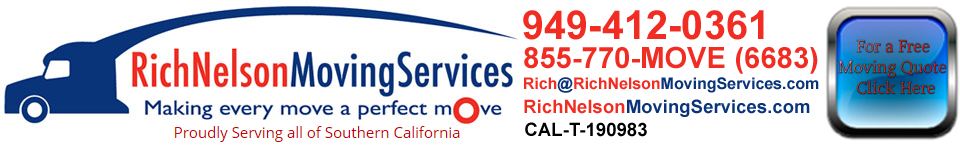 Movers serving Tustin Ranch with free estimates by phone and binding in home quotes.
